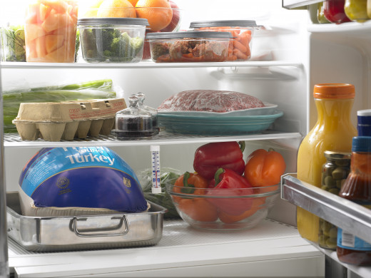 Separate raw foods like uncooked poultry from other ingredients like fresh veggies to keep your food safe from cross-contamination of bacteria.