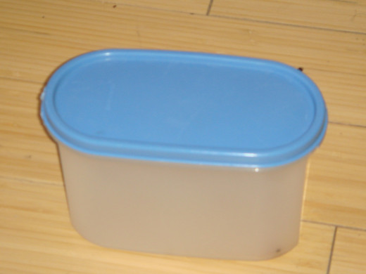 A generic plastic food storage container