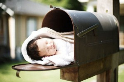 Babies left in mailboxes could raise certain tricky ethical and legal issues, but could a return to baby-post help turn around an ailing Postal Service?