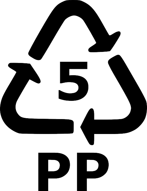 Plastic #5 PP.  The symbol on your container should resemble this one.
