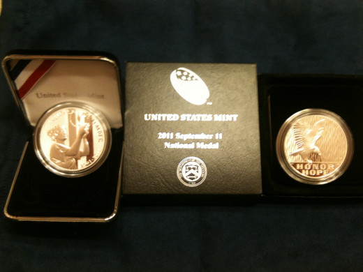 COINS STRUCK TO MEMORIALIZE THE EVENT
