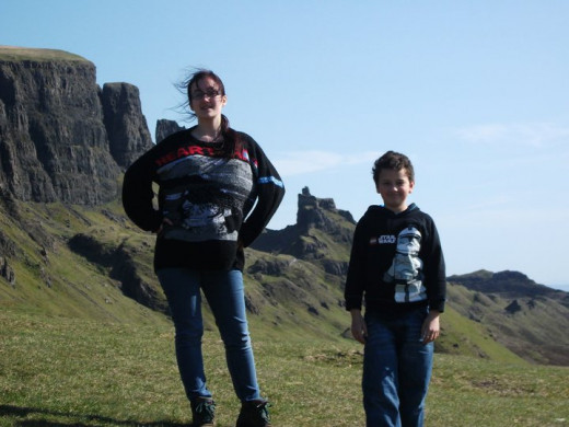 A brother and sister on the Quiraing