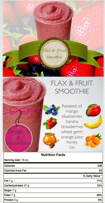 Flax and Fruit Smoothie Recipe: Rich in Antioxidants and Omega 3