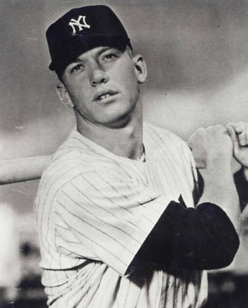 Mickey Mantle of the New York Yankees is a baseball legend.