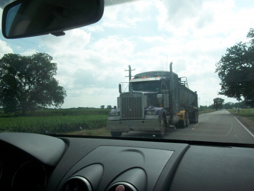 We share the road with semis every day.