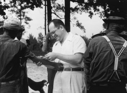 An examination being conducted during the Tuskegee Syphilis Experiment.