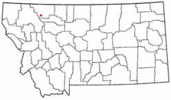 Map location of East Glacier Park, Montana