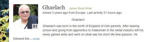 Author James Stuart White http://ghaelach.hubpages.com/