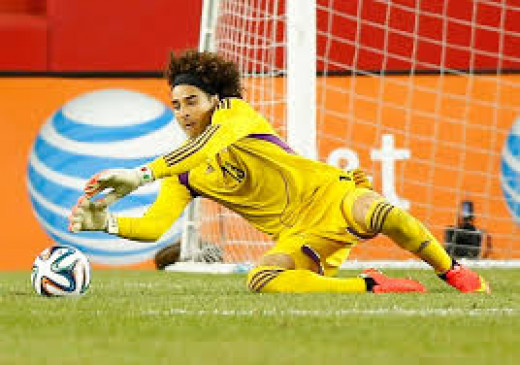 Ochoa in action in World Cup 2014