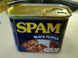 Spam is a favorite in Maui Hawaii - this flavor is Black Pepper Spam.