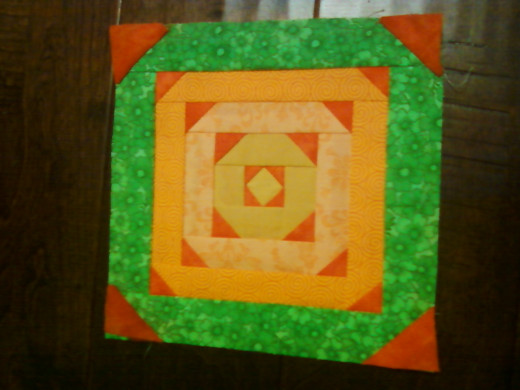 Finished block, including added seam allowance.