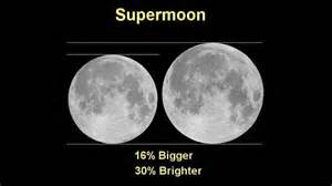 "A ""Super Moon""is noticeably brighter than a full moon"