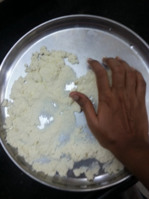 Making of pilable dough