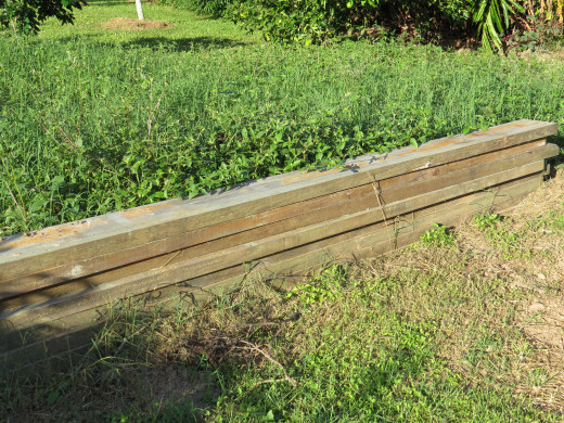 If you have some timber boards laying around then these would make ideal vegetable garden bed borders.