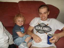 My gorgeous grandson with HIS son.