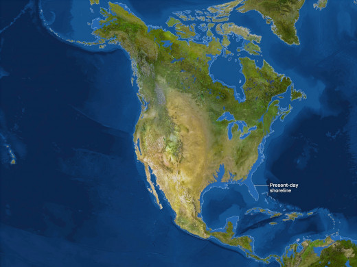 This what the U.S shoreline will look like if all the polar ice melts.