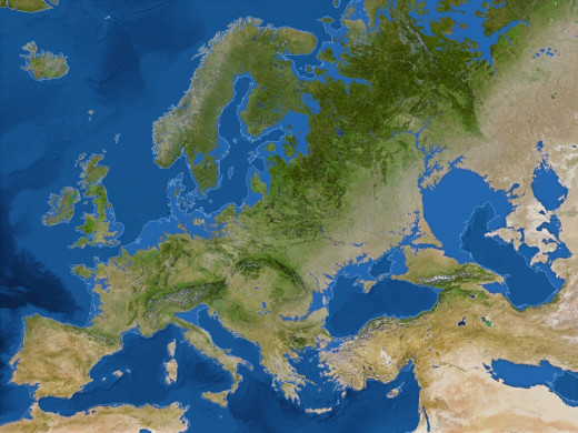 This what Europe's shoreline will look like after all the polar ice melts.