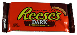 Reese's Peanut Butter Cups come in a variety o flavors such as dark chocolate!