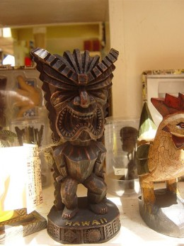 Tiki on sale at Poi'pu shop
