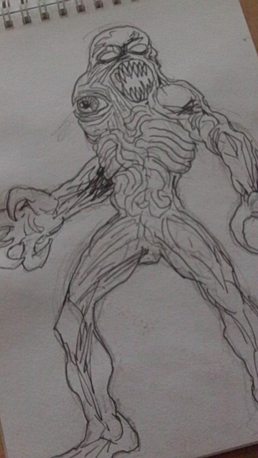A Mutant creature idea which was inspired by the Resident Evil video games.