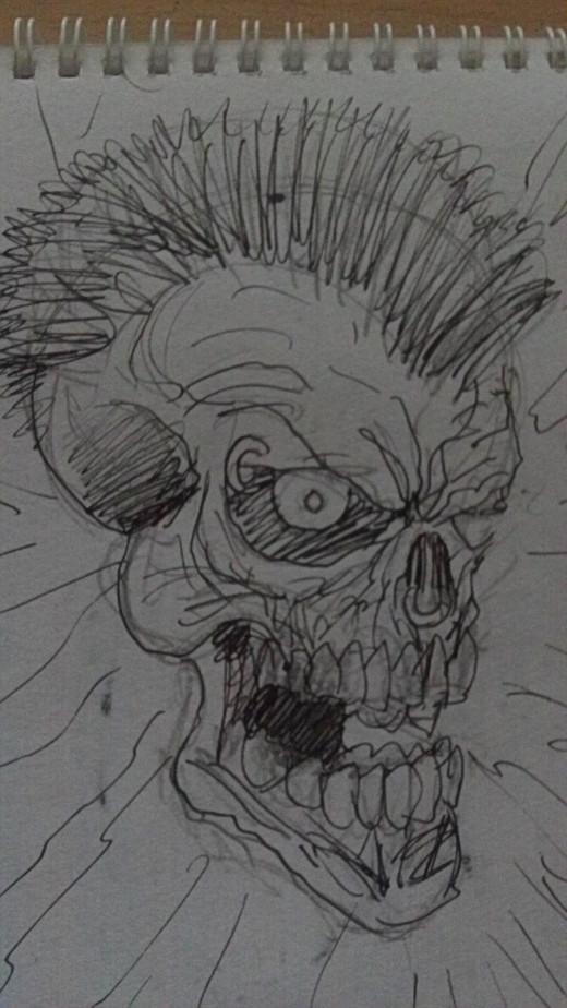 A punk skull concept.
