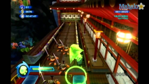 Sonic i hoover mode in Sonic Colors, perhaps the most annoying transformation in the entire game.