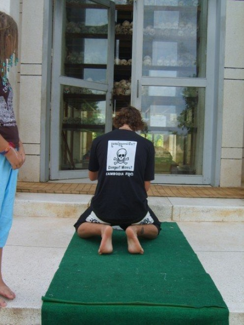 Showing respect at the Killing Fields