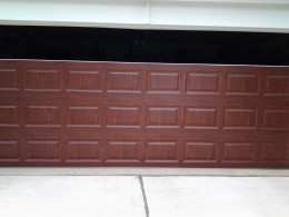 The New Garage Door - Final Stage of Installation.
