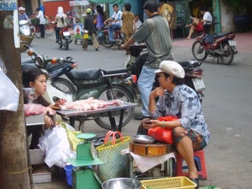 Street butchery in Ho Chi Min