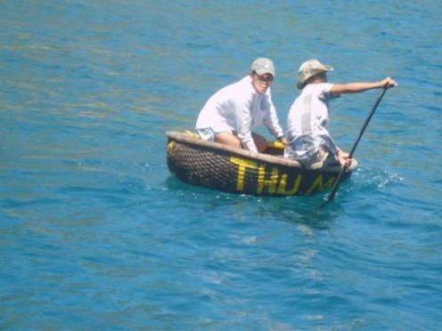 Little sampans for fishing from
