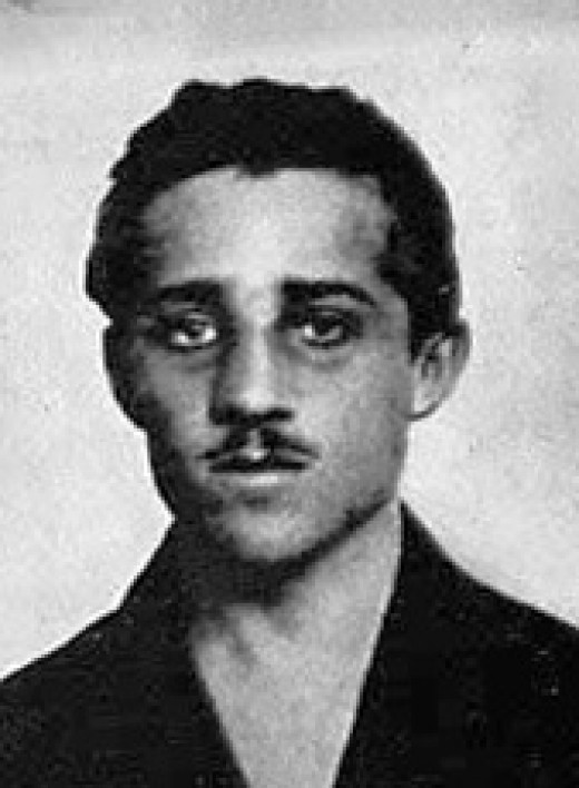 Photo Taken of Gavrilo Princip while imprisoned in Terezin Fortress located in what is now the Czech Republic