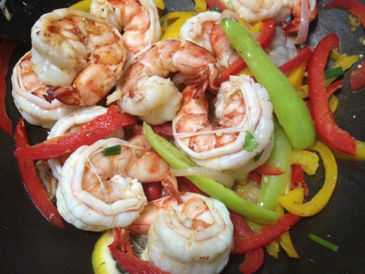 Butterflied shrimp gives a nice, clean, attractive presentation no matter how you prepare it.
