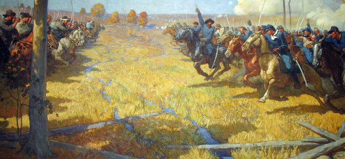 Painting of The Battle of Westport
