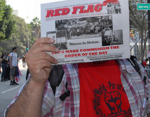 Red Flag news product from Occupy L.A. International Day Of Action, Saturday - 10/15/11