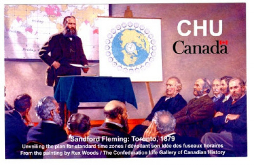 QSL card from shortwave time-station CHU in Canada.
