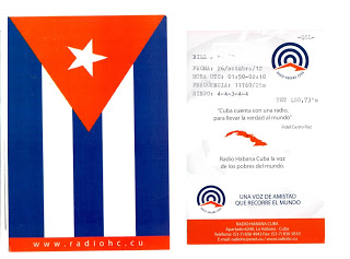 QSL card from Radio Habana Cuba.