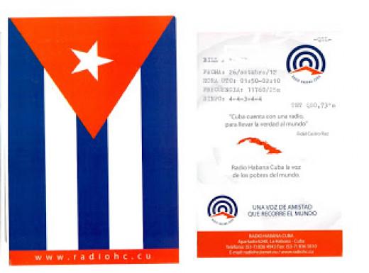 QSL card from Radio Habana Cuba.