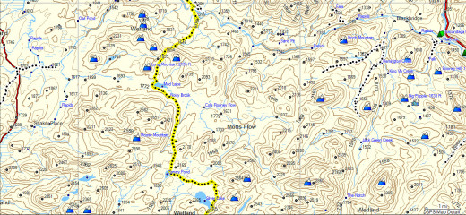 Map of the NPT from Silver Lake to Whitehouse.