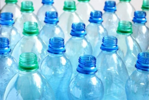 Plastic water bottles are commonly made out of polyethylene