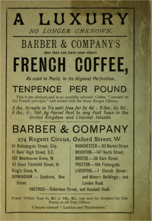 Really Old Advertisement for French Coffee, because it was new once.