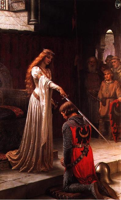 Guinevere and Lancelot by E.B. Leighton.