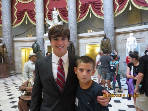 INTERN ANDREW JOHNSON WITH GRAYSON IN THE CAPITOL.