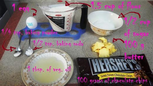 chocolate lava cookies' ingredients