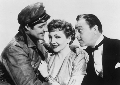 Claudette Colbert, sandwiched between Mortimer Duke and Drew Barrymore's grandpa.