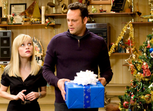 "Witherspoon and Vaughan in ""Four Christmases"""