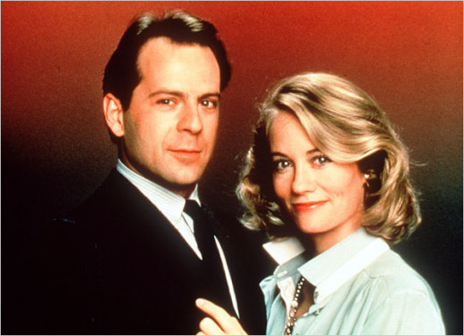 "Willis and Shephard in ""Moonlighting"""