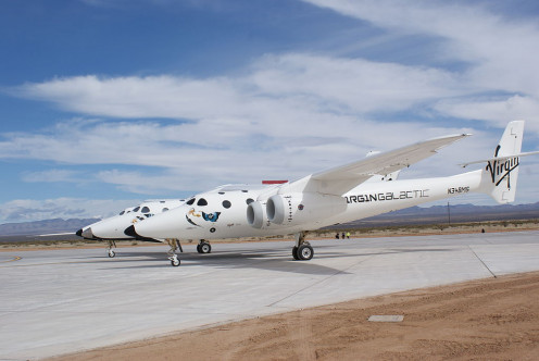 White Knight Two and SpaceShipTwo
