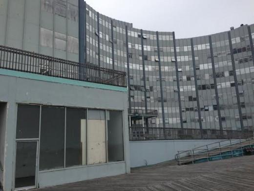 A dilapidated building in Atlantic City, NJ