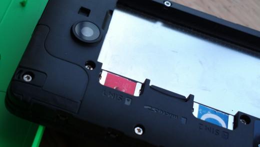 Card slots & Camera