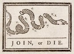 Benjamin Franklin's Join or Die Political Cartoon